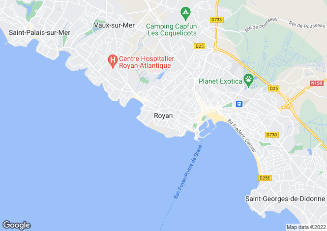 Map for Proche/Near Royan, Charente-Maritime