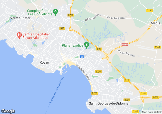 Map for royan, Charente-Maritime, France