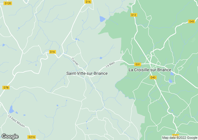 Map for st-vitte-sur-briance, Haute-Vienne, France
