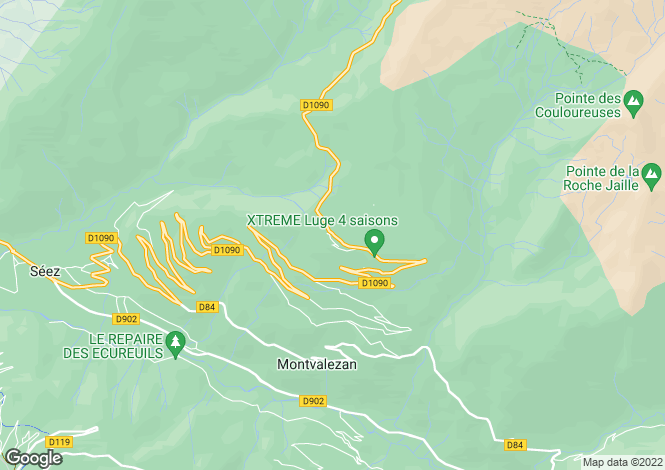Map for La Rosière, Savoie, Rhone Alps