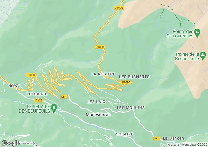 Map for A Typically Savoyard Resort, La Rosiere, Savoie