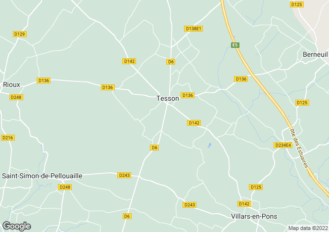 Map for tesson, Charente-Maritime, France