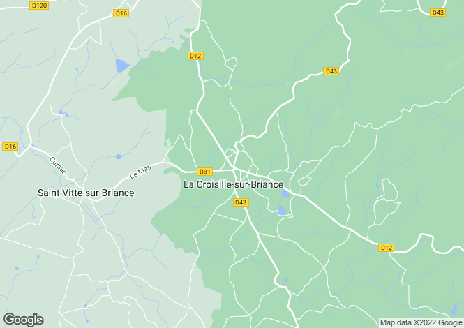 Map for la-croisille-sur-briance, Haute-Vienne, France