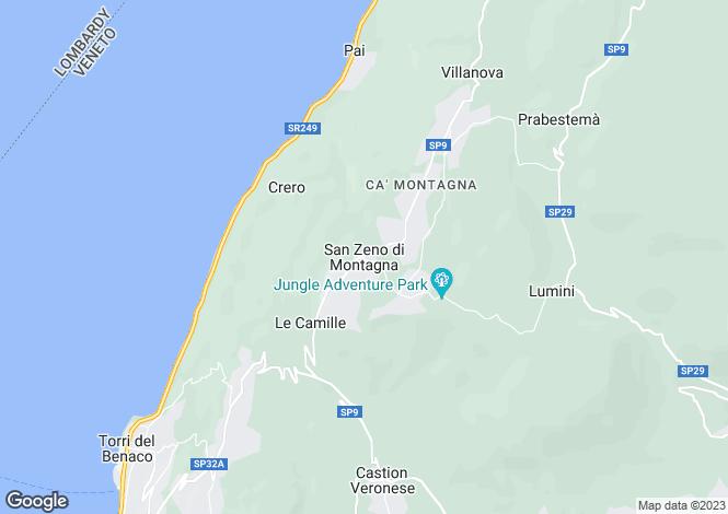 Map for San Zeno Di Montagna, Verona, Veneto