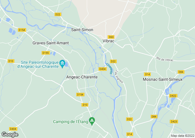 Map for angeac-nr-chateauneuf, Charente, France