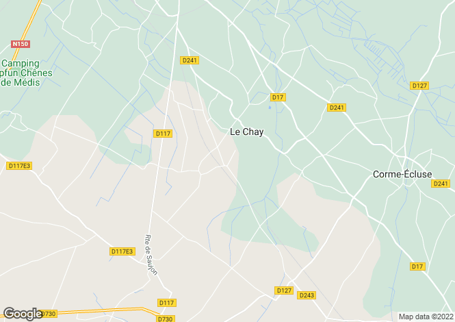 Map for Poitou-Charentes, Charente-Maritime, Le Chay