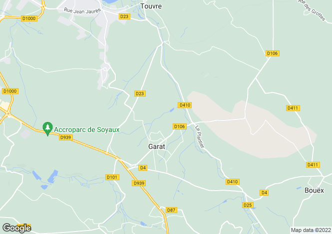 Map for garat, Charente, France