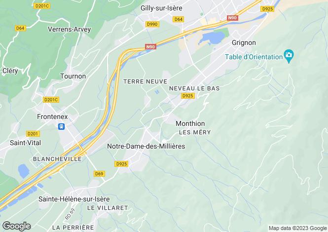 Map for notre-dame-des-millieres, Savoie, France