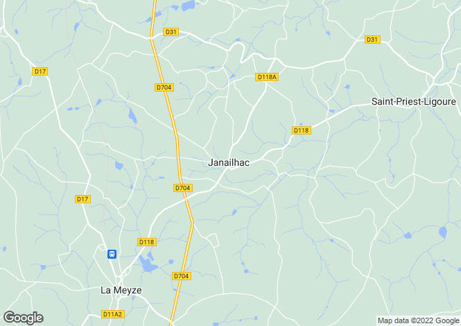 Map for janailhac, Haute-Vienne, France