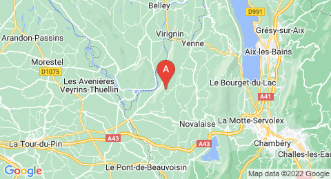 map of Mont Tournier (France)