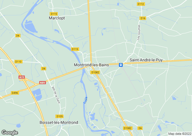 Map for montrond-les-bains, Loire, France