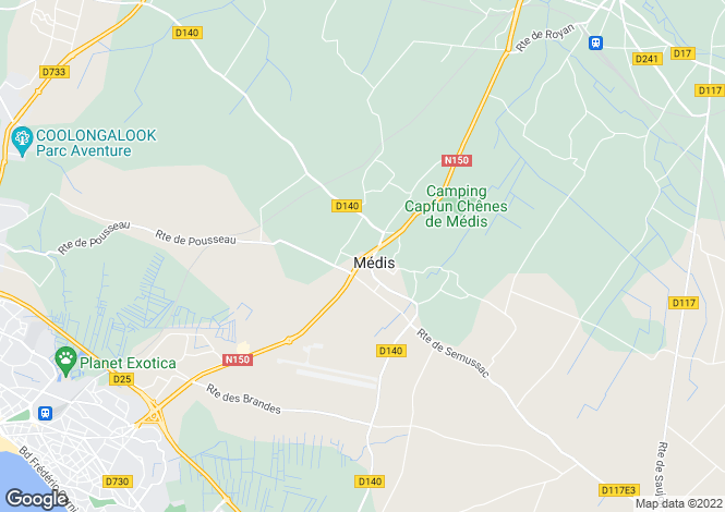 Map for medis, Charente-Maritime, France