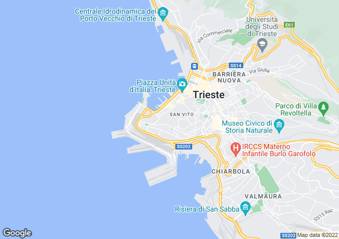 Map for Trieste, Trieste, Friuli-Venezia Giulia
