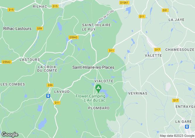 Map for Saint-Hilaire-les-Places, Limousin, 87800, France