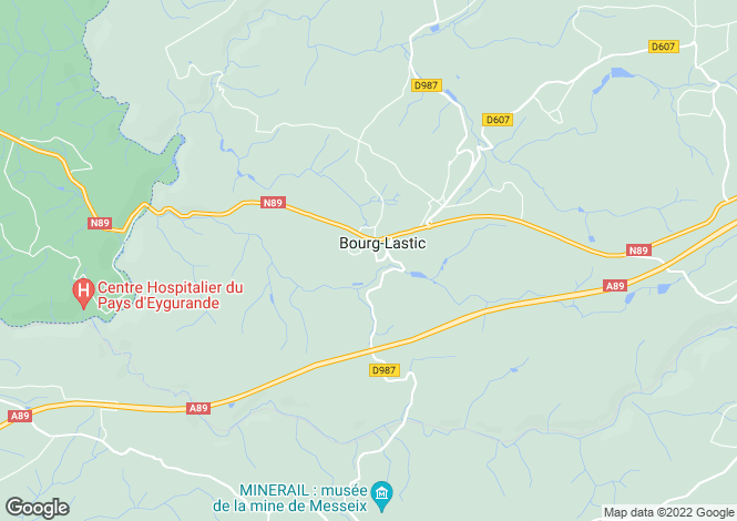 Map for bourg-lastic, Puy-de-Dôme, France