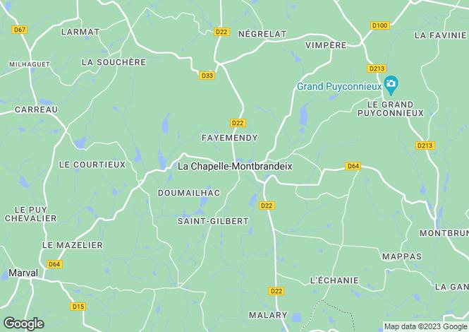 Map for Secteur: Cussac, Haute Vienne