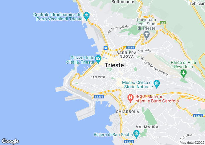 Map for Trieste, 34123, Italy