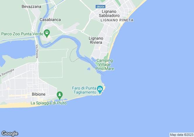 Map for Bibione, Venice, Veneto