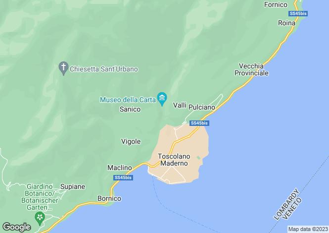 Map for Lombardy, Brescia, Toscolano-Maderno