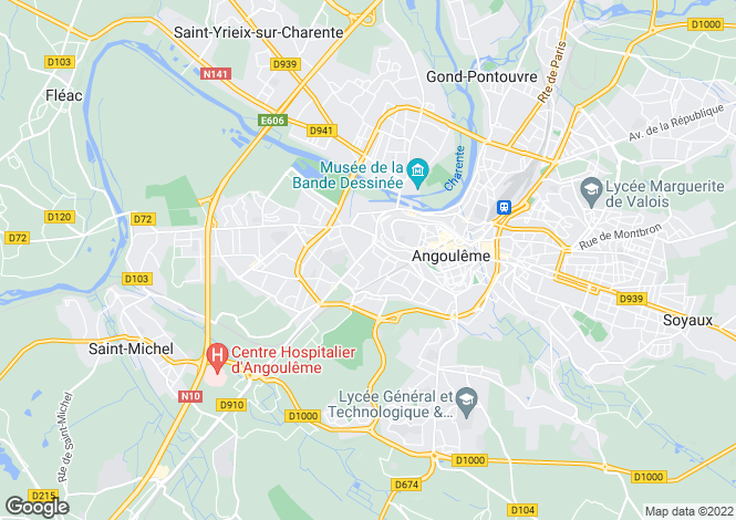 Map for Nr Angouleme, Charente, 16000, France