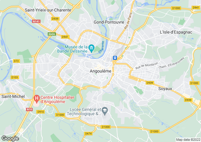 Map for Secteur: Angouleme, Charente
