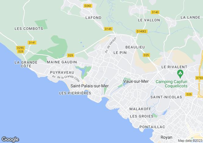 Map for st-palais-sur-mer, Charente-Maritime, France