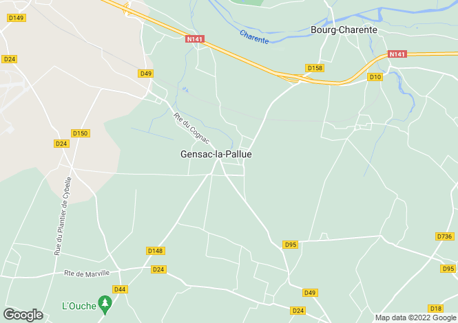 Map for gensac-la-pallue, Charente, France