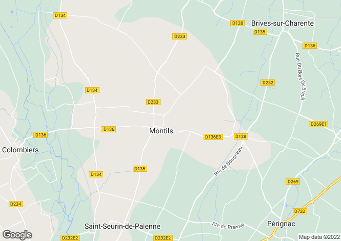 Map for pons, Charente-Maritime, France