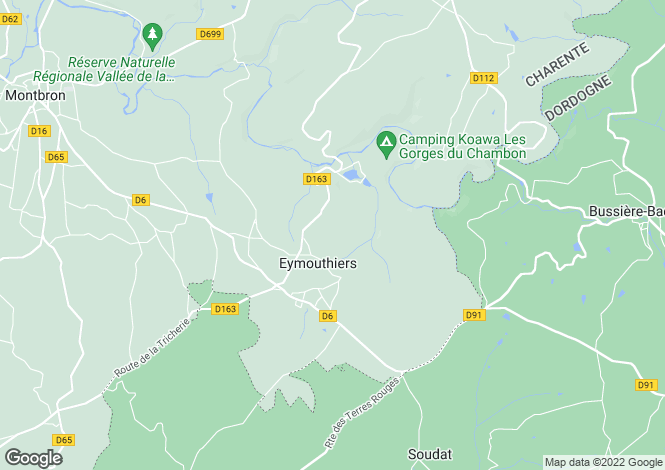 Map for eymouthiers, Charente, France