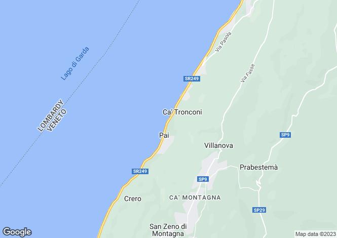 Map for Torri Del Benaco, Verona, Veneto