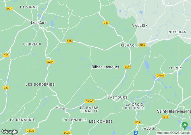 Map for rilhac-lastours, Haute-Vienne, France