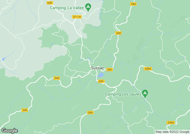 Map for Limousin, Haute-Vienne, Sussac