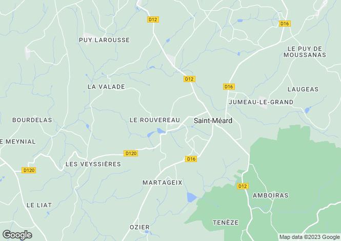 Map for St-Méard, Haute-Vienne, Limousin