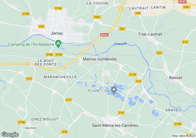 Map for Poitou-Charentes, Charente, Gondeville