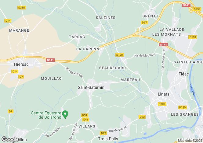 Map for st-saturnin, Charente, France
