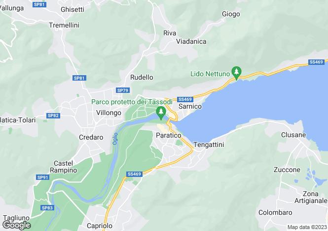 Map for Sarnico, Bergamo, Lombardy