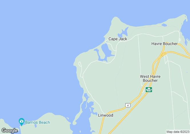 Map for Nova Scotia, Havre Boucher