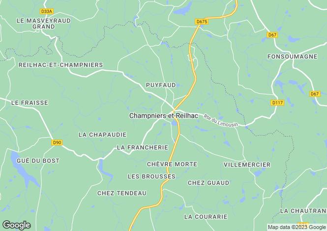 Map for Secteur: Champniers et Reilhac, Dordogne