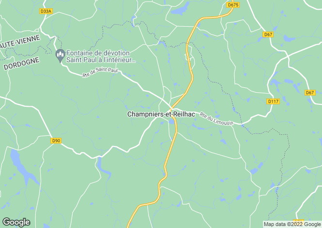 Map for Champniers-et-Reillhac, Dordogne, 24360, France