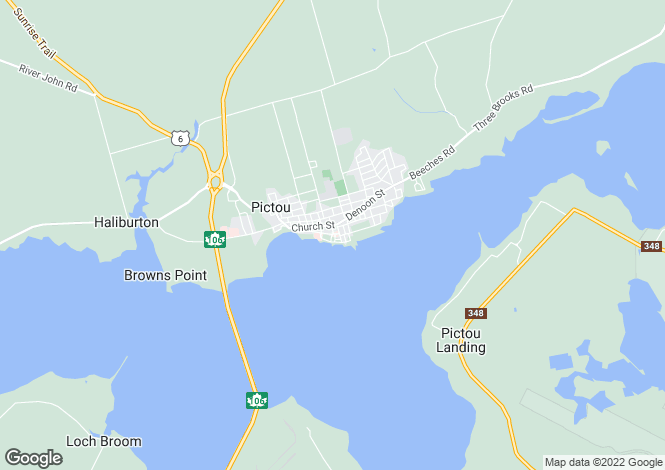 Map for Nova Scotia, Pictou