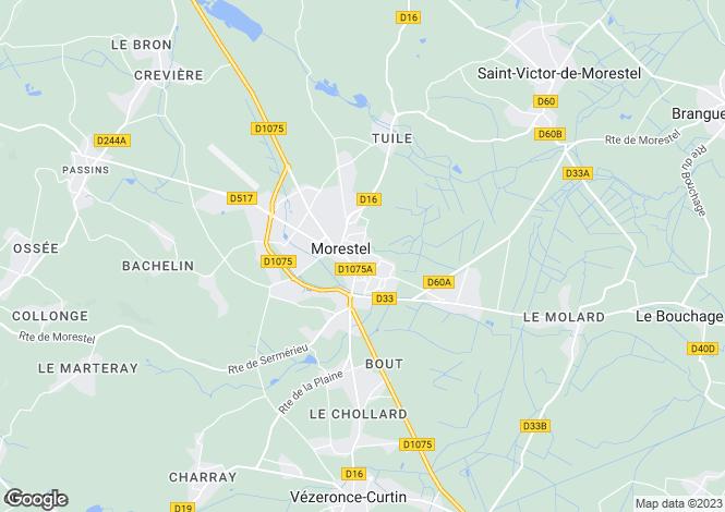 Map for morestel, Isère, France