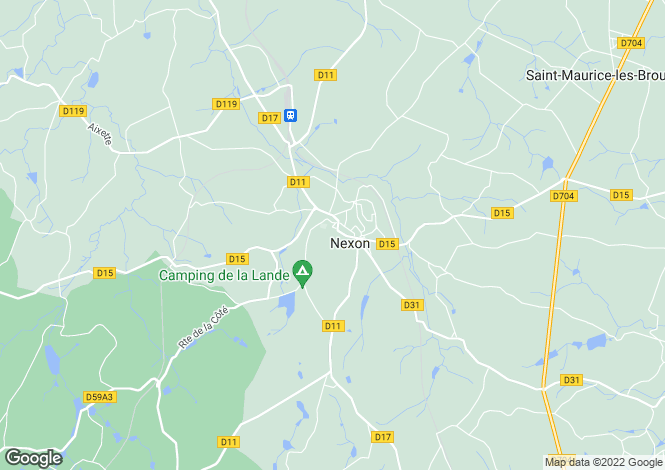 Map for nexon, Haute-Vienne, France