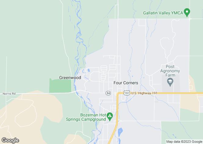 Map for USA - Montana, Gallatin County, Bozeman