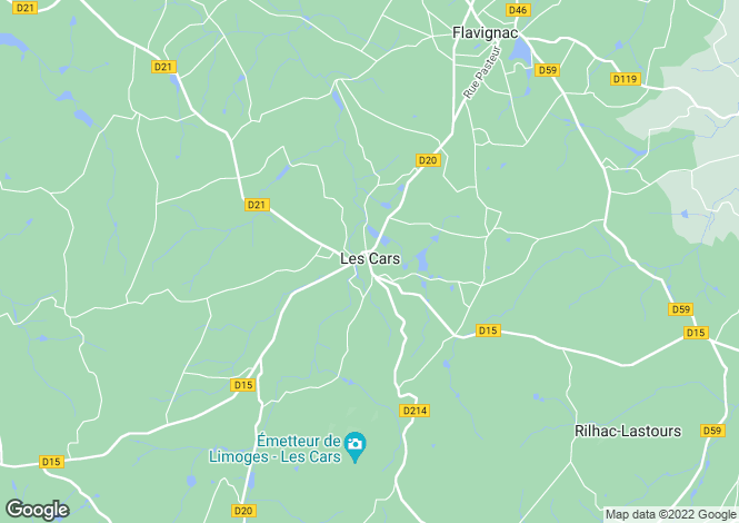 Map for les-cars, Haute-Vienne, France