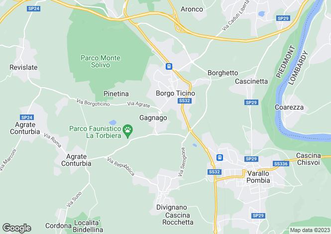 Map for Agrate Conturbia, Novara, Piedmont