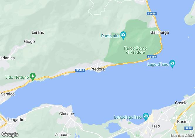 Map for Lombardy, Bergamo, Predore