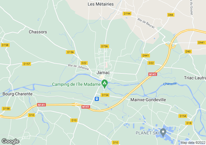Map for Secteur: Jarnac, Charente