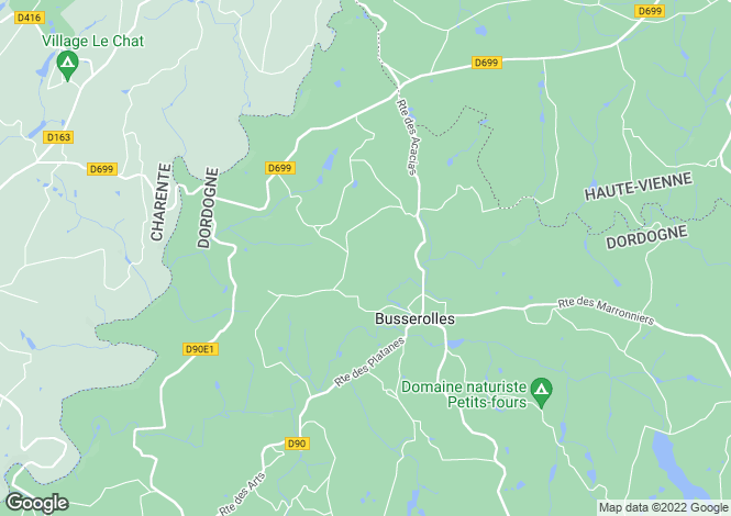 Map for Aquitaine, Dordogne, Busserolles