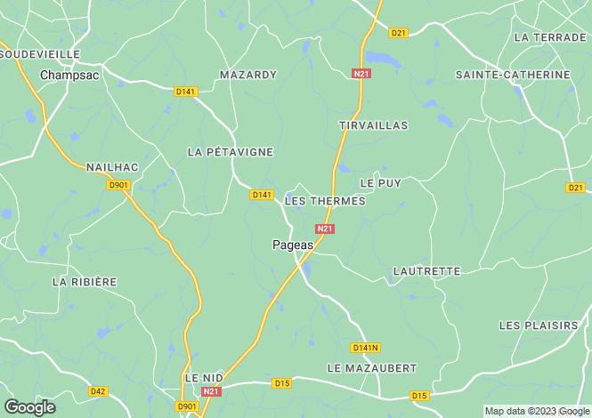 Map for Limousin, Haute-Vienne, Pageas