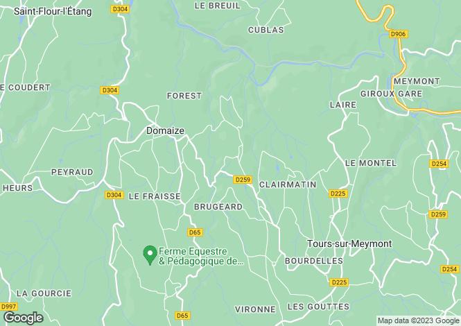 Map for Auvergne, Puy-de-Dôme, Domaize